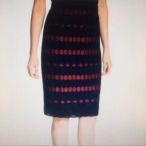 BOGO Calvin Klein lace pencil skirt tuxedo stripes